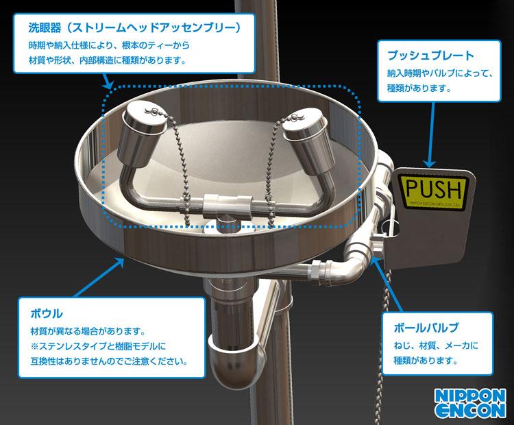 洗眼器部分部品